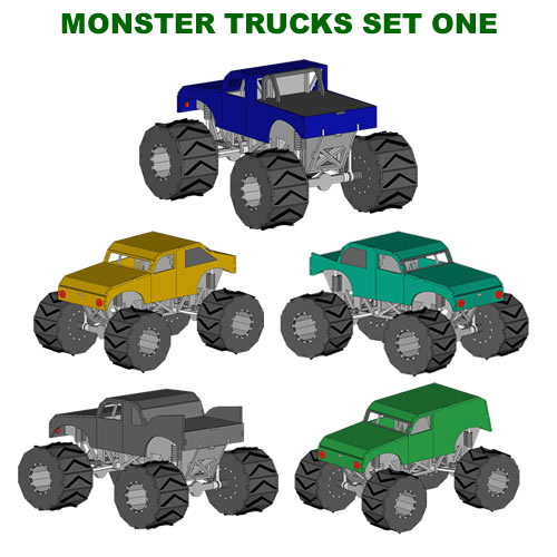 Monster Trucks ( Set One)