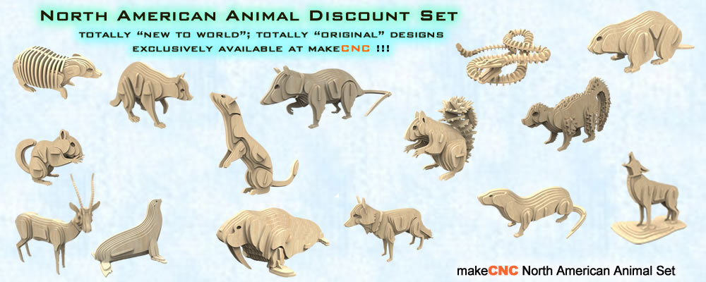 North American Animals Volume One Makecnc Volume Packs