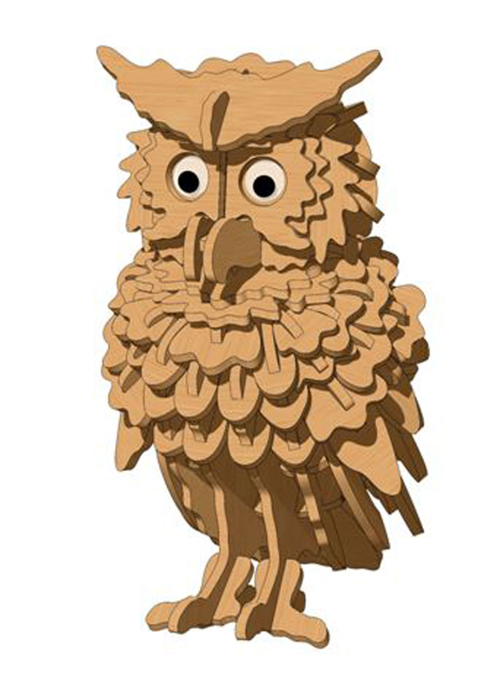 The Curious Owl - Birds | MakeCNC.com
