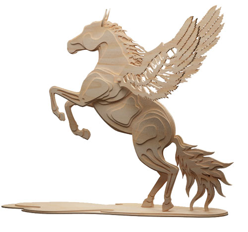 Magical Pegasus Flying Horse Mythical Makecnc Com