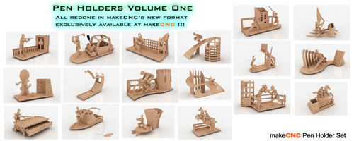 3D Puzzle Pen Holders Volume One