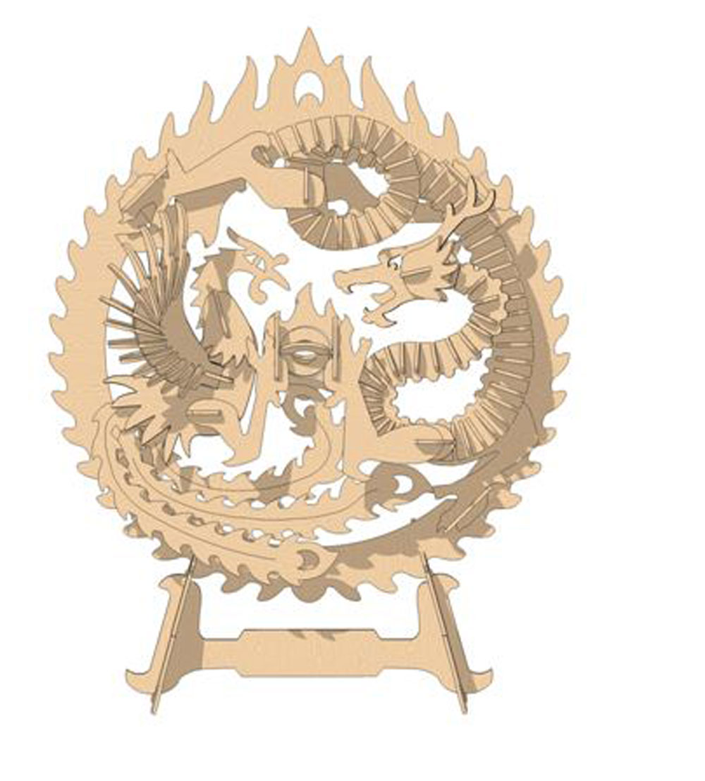 The Dragon And Phoenix Mythical Makecnc Com