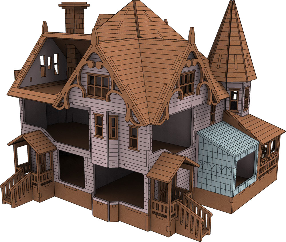 Pink Palace Coraline Doll House Houses Makecnc Com