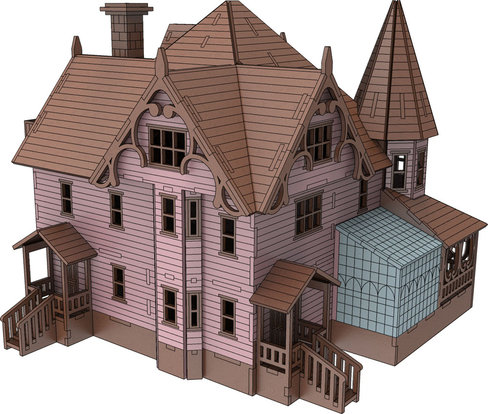 Pink Palace Coraline House Houses Makecnc Com