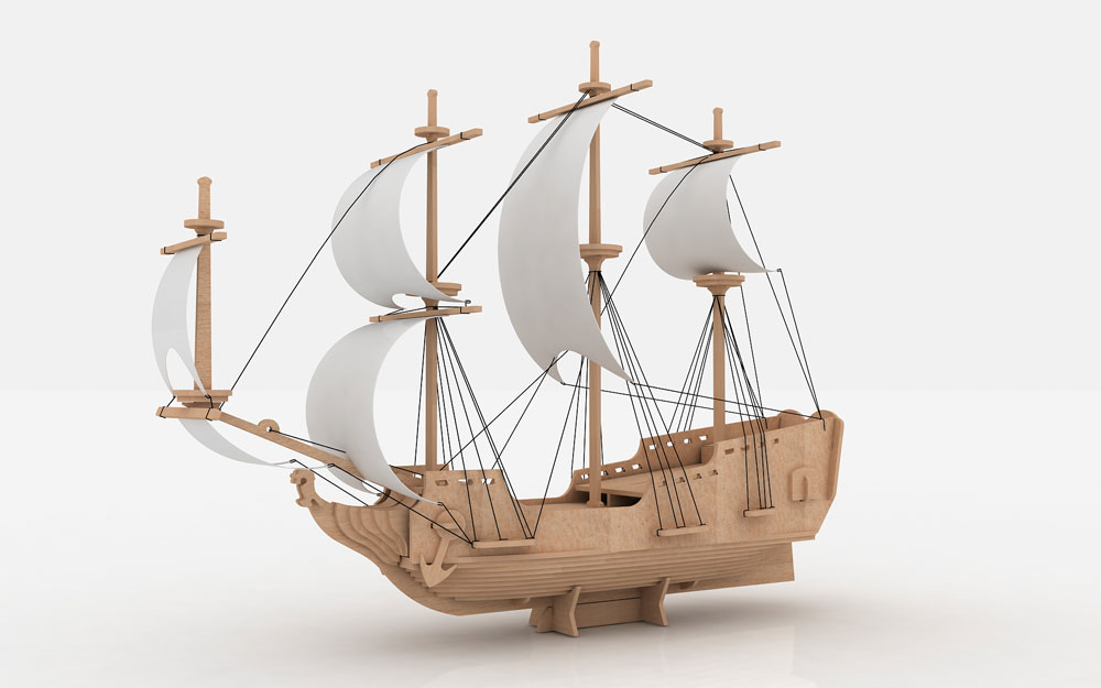 Pirate Ship  Ships  Boats  MakeCNCcom