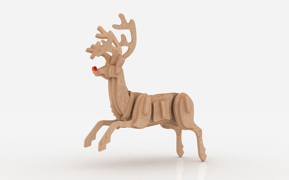 Rudolph The Red Nose Reindeer Santa Claus Christmas Makecnc