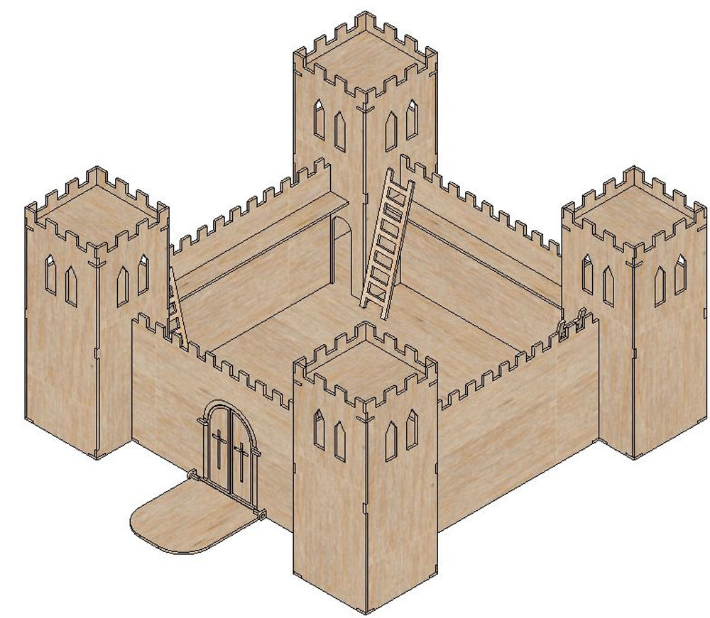 The Simple Medieval Castle Castles