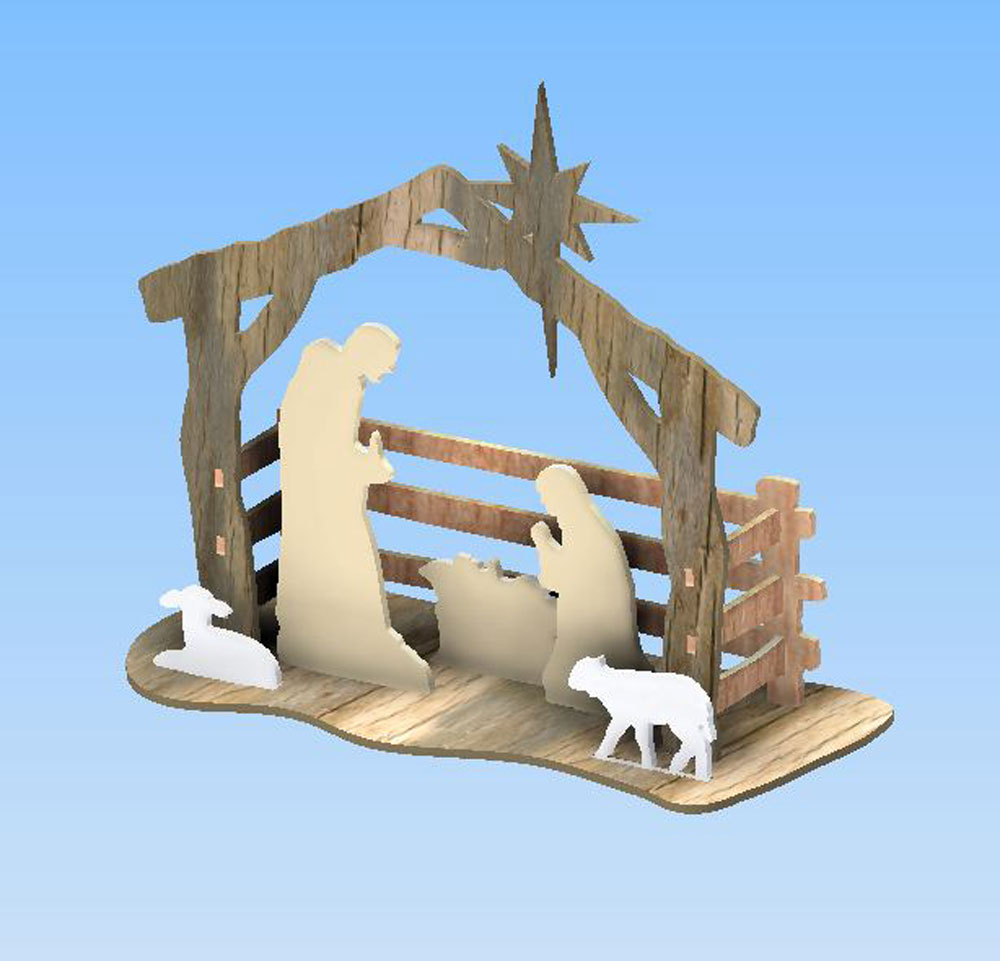 Simple Nativity Scene Discounts Applied to Prices at Checkout!