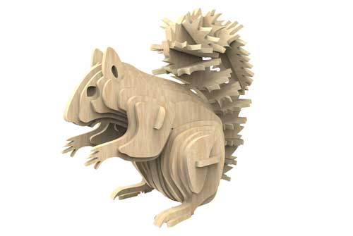 Squirrel North American Animal Series Wild Makecnc Com