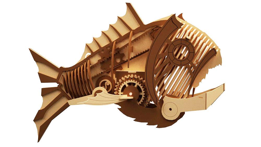 Mechanical Fish Steam Punk Science Fiction Makecnc Com