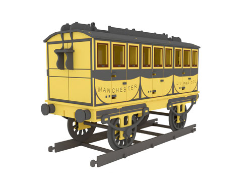 Stephenson's Rocket Passenger Carriage