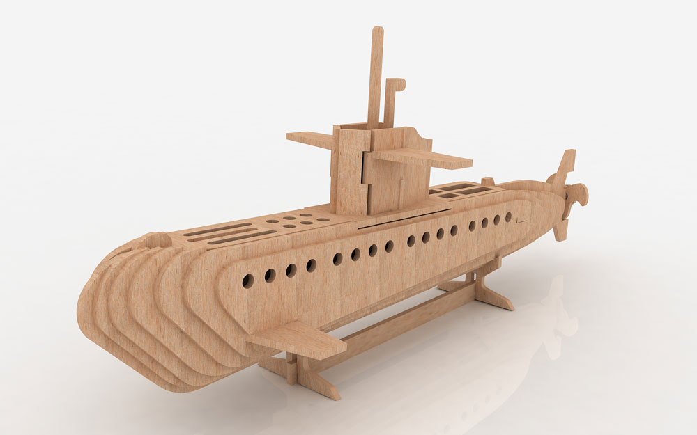Submarine - Ships & Boats | MakeCNC.com