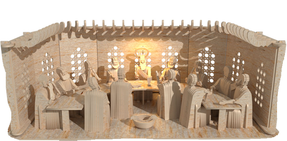 3d The Last Supper Premium Model 3d Scenes Makecnc Com