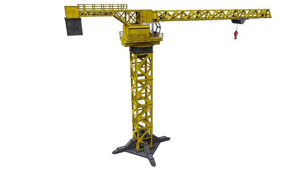 Tower Crane - Heavy Machines | MakeCNC.com