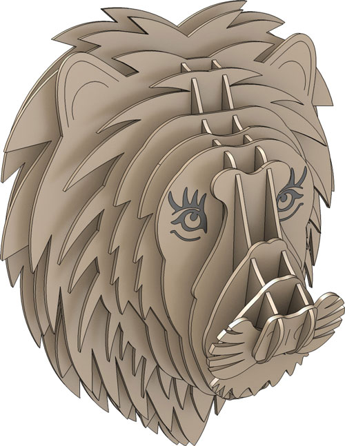 Trophy Faux Lion Head