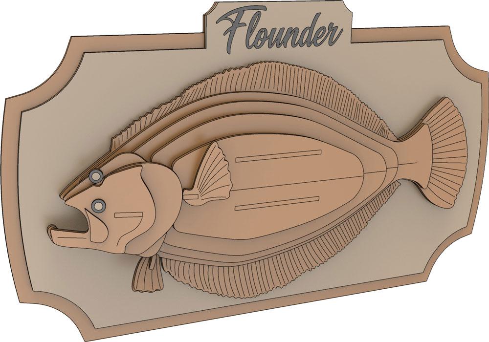 Flounder Trophy Fish Fish Makecnc Com