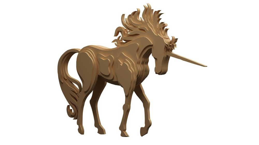 Gallant Unicorn Mythical Makecnc Com