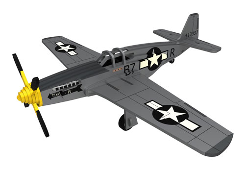 WWII The Mustang P-51 Plane